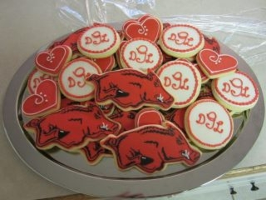 Arkansas Razorbacks Wedding Cookies on Cake Central