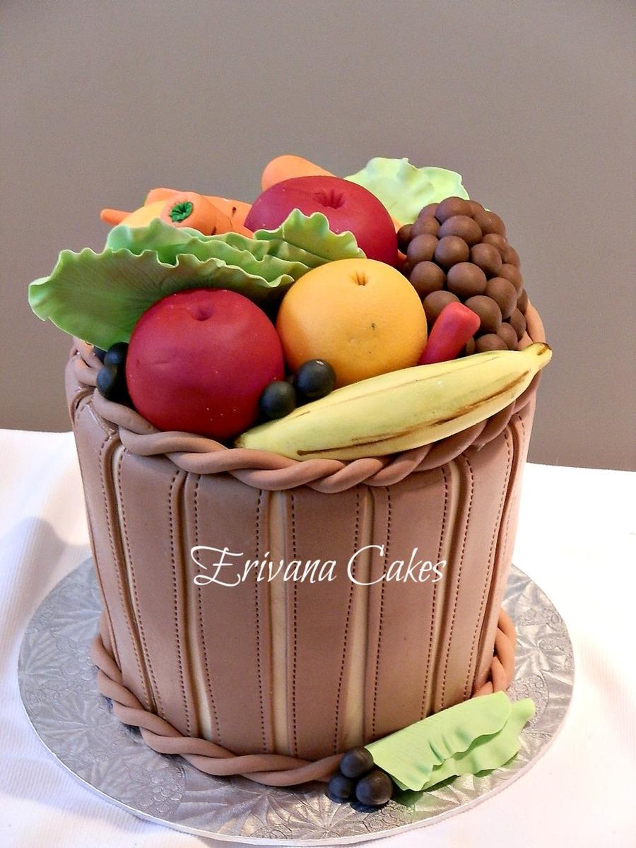 Basket Of Fruits And Vegetables Cake - CakeCentral.com