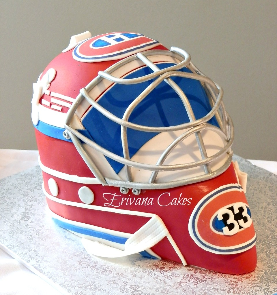 Goalie Mask Cake