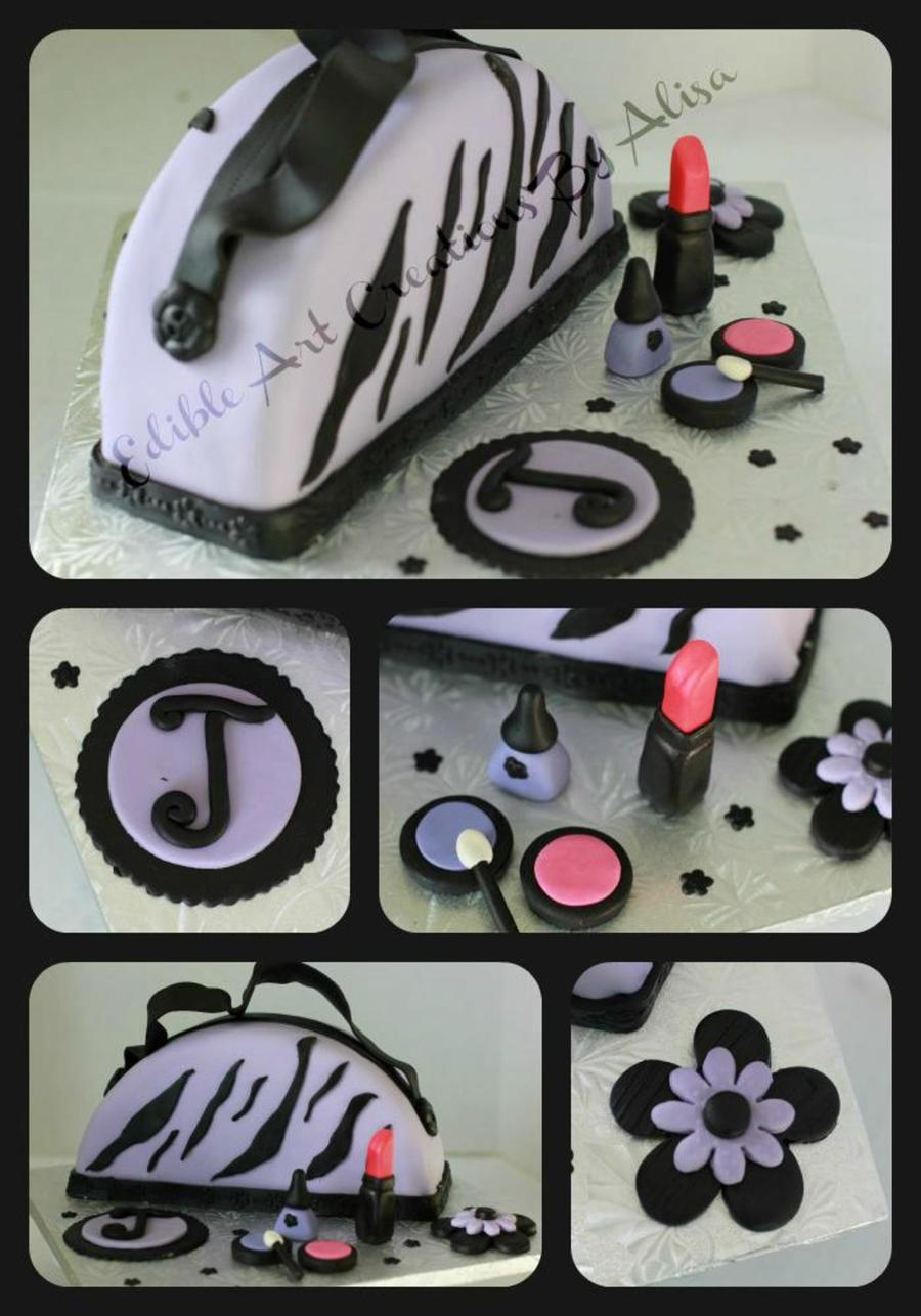 My First Purse/make-Up Cake :) on Cake Central