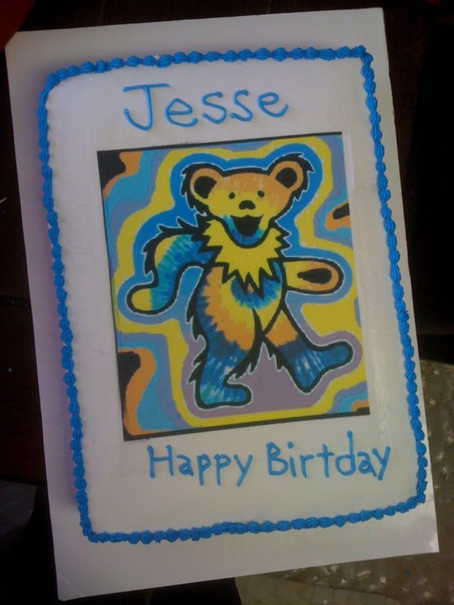 Grateful Dead Bear on Cake Central