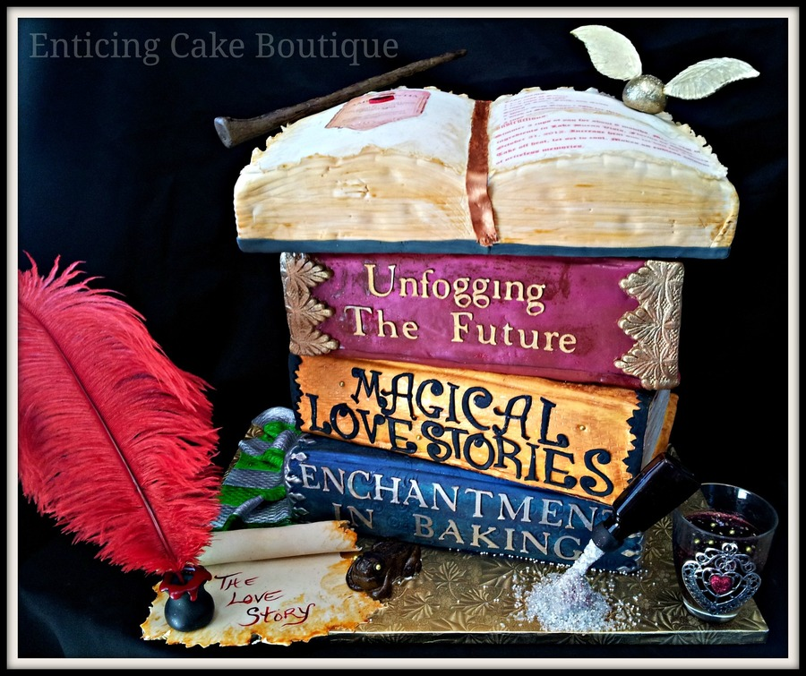book wedding cakes harry potter 3d wedding cake stacked books open 2015