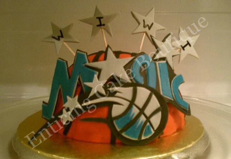 Sensational Orlando Magic Basketball Nba Fondant Birthday Cake Cakecentral Com Personalised Birthday Cards Beptaeletsinfo