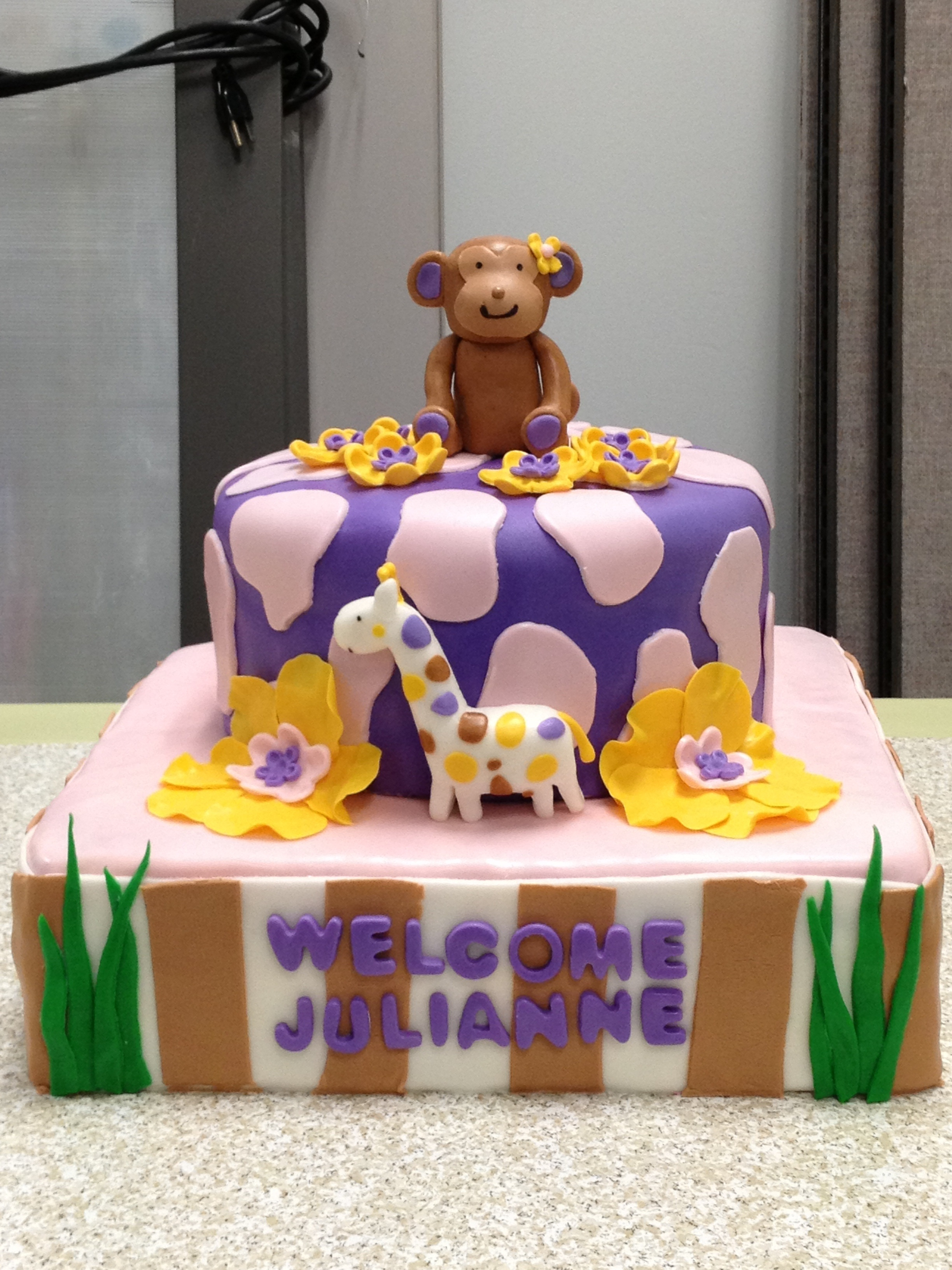 Cocalo Jacana Themed Baby Shower Cake on Cake Central