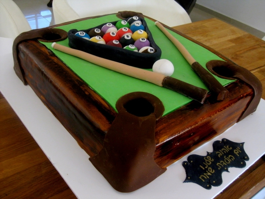 Riky,s Cakes - Pool Table  on Cake Central