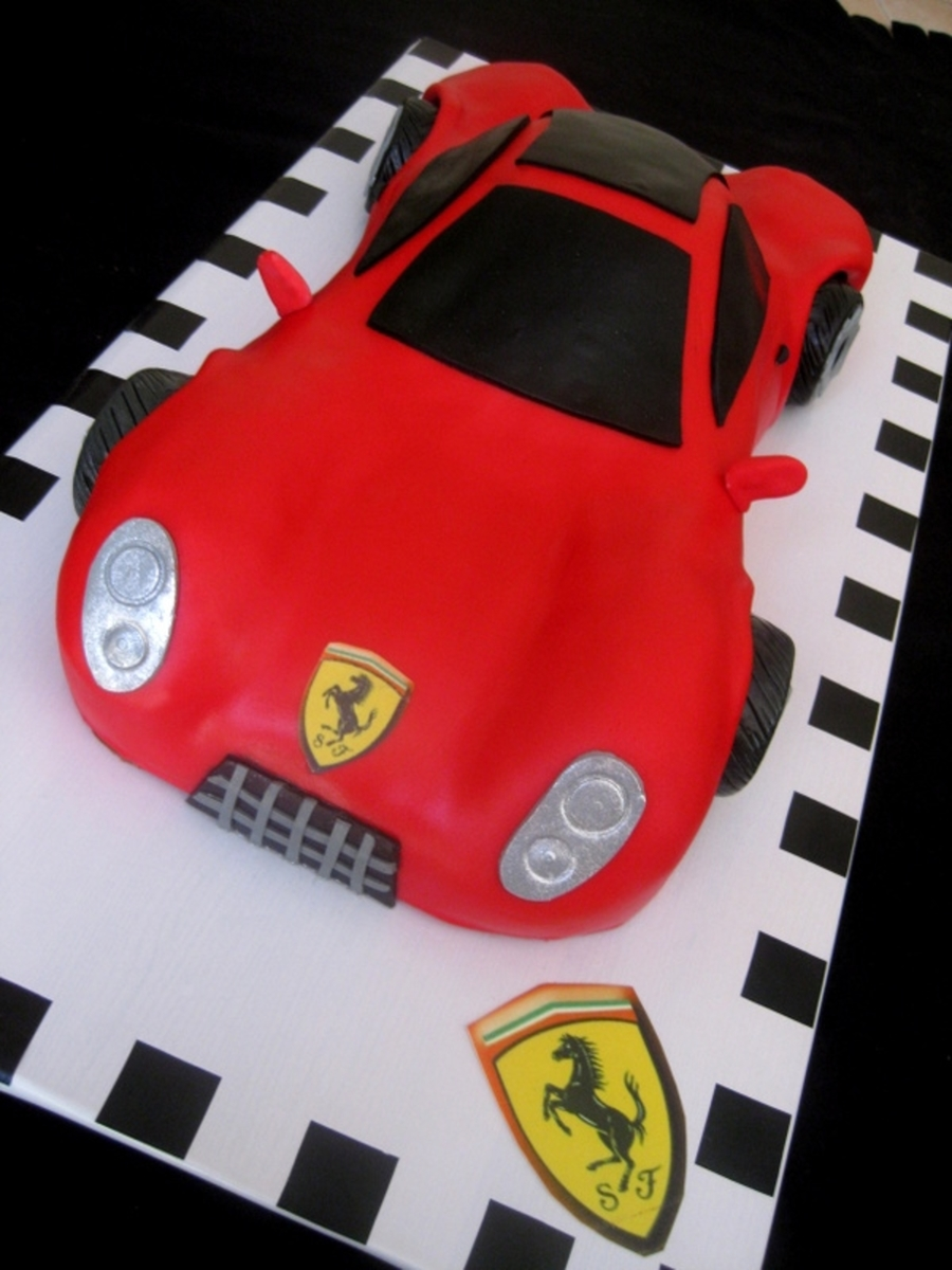 Ferrari Car Cake on Cake Central