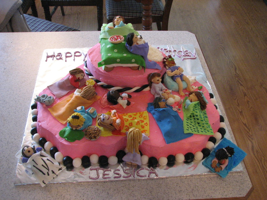 Pajama Party Cake Pictures