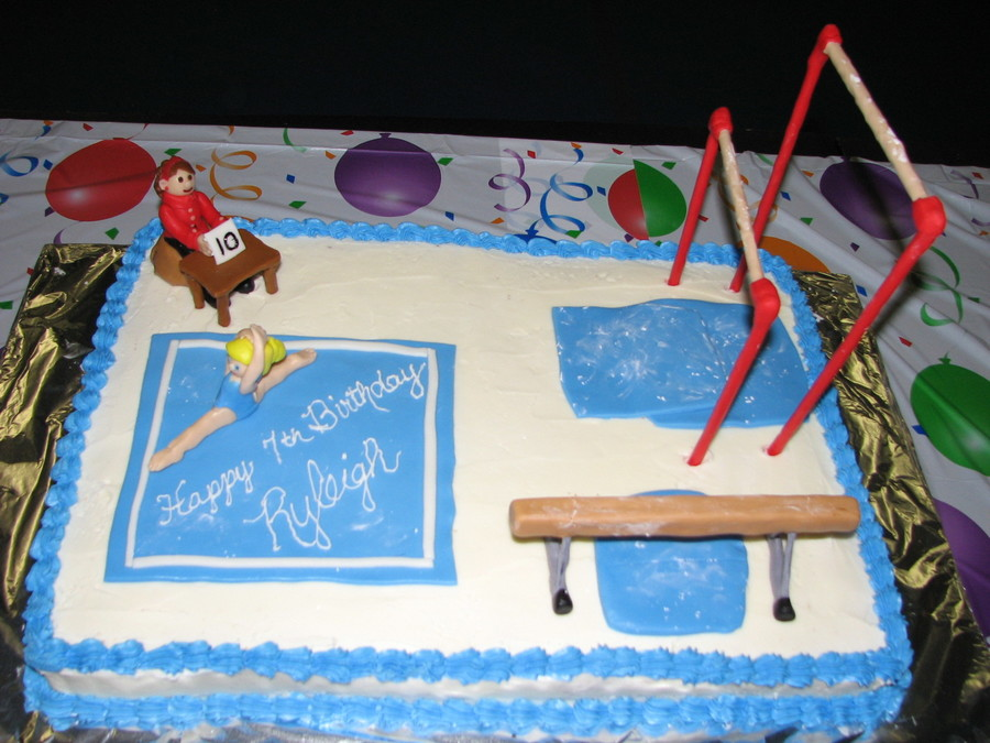 Phenomenal Gymnastics Birthday Cake Cakecentral Com Personalised Birthday Cards Bromeletsinfo