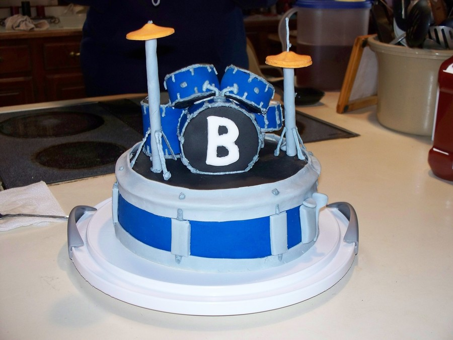 Drum Set  on Cake Central