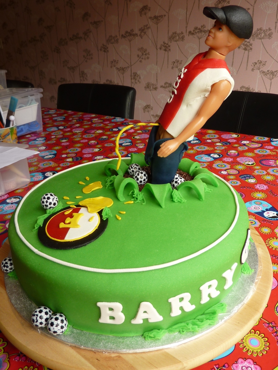 Soccer Hooligan Birthday Cake
