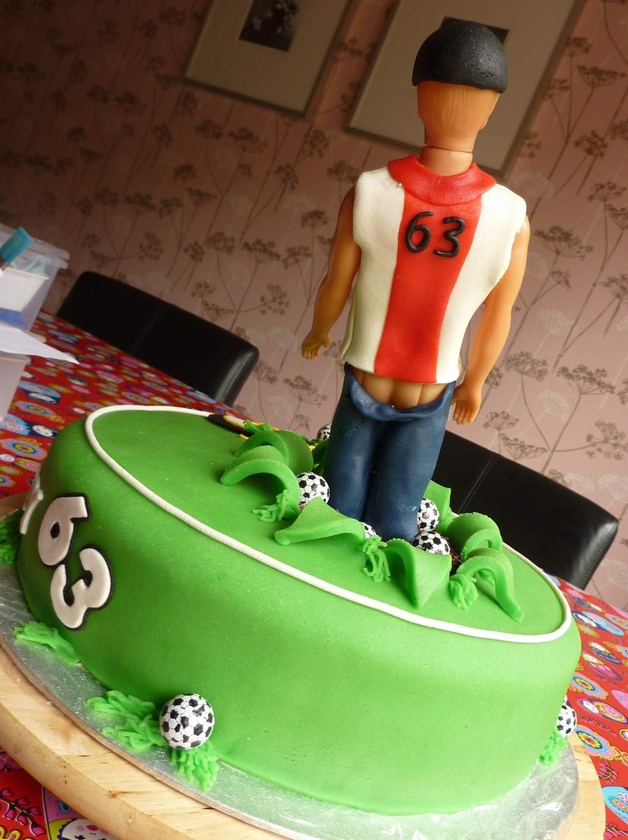Soccer Hooligan Birthday Cake