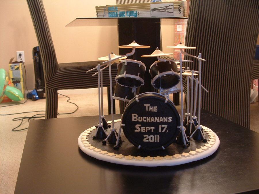 Cake Decorations Drum Kit : Drum Set - CakeCentral.com