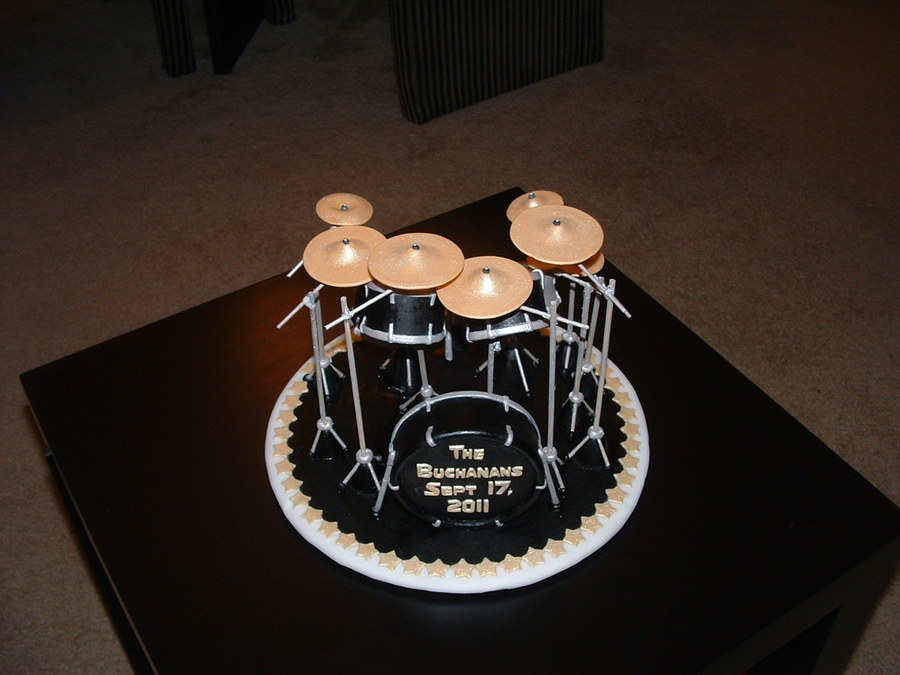drum wedding cake toppers drum set cakecentral 13758
