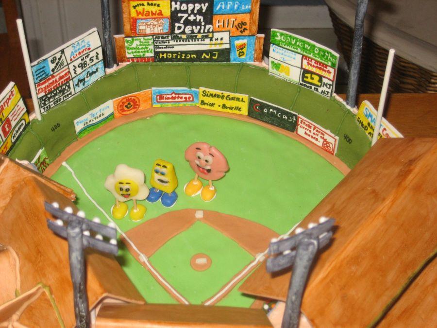 Lakewood Blueclaws Baseball Stadium Cake Cakecentral Com