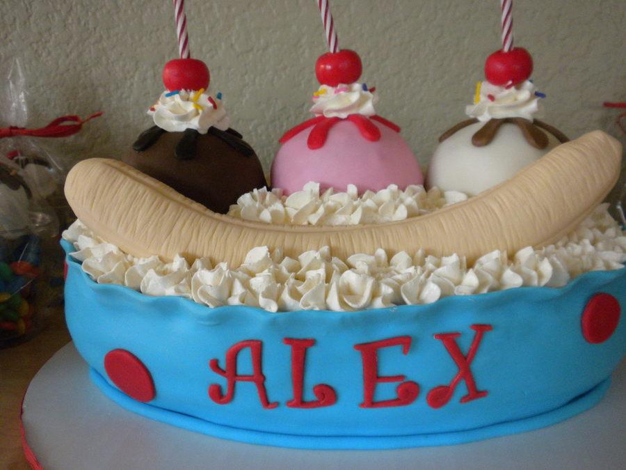 Banana Split Birthday Cake Cakecentral Com