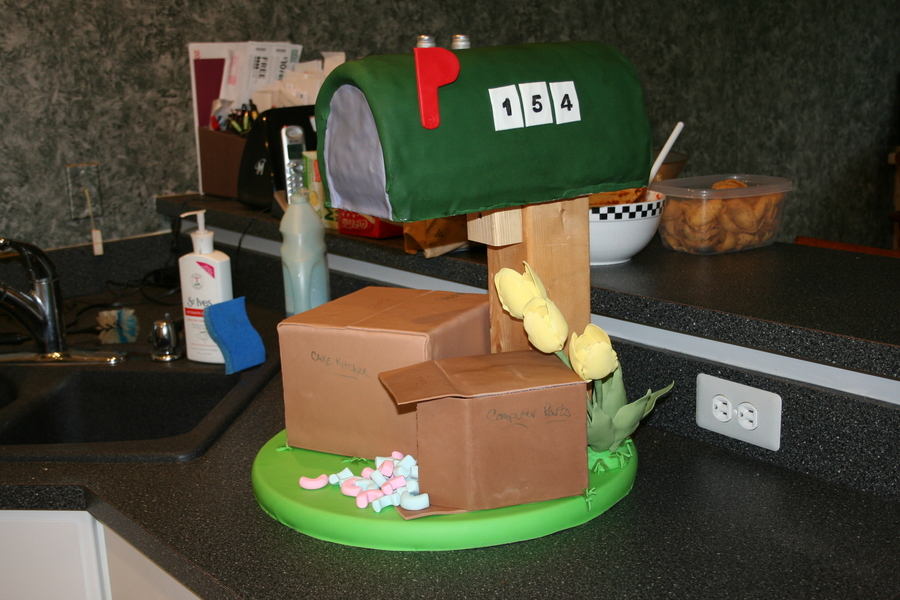 Mail Box - House Warming on Cake Central