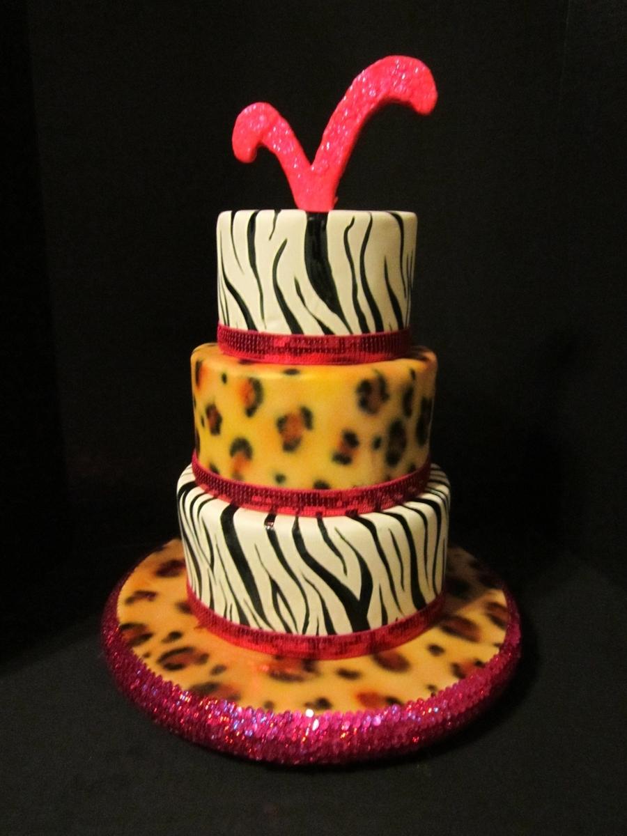 Awesome Animal Print Birthday Cake Cakecentral Com Funny Birthday Cards Online Inifofree Goldxyz