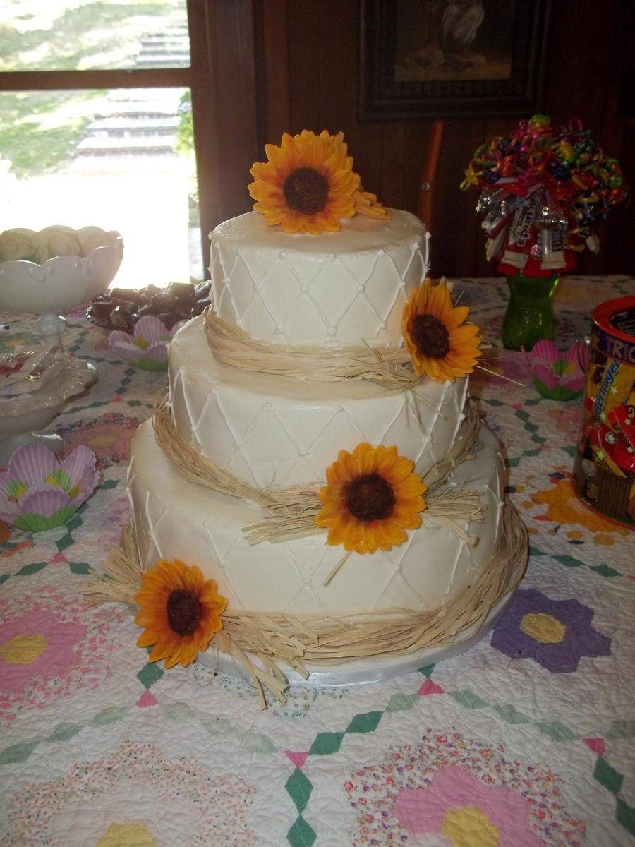sunflower cheesecake wedding cake. Black Bedroom Furniture Sets. Home Design Ideas