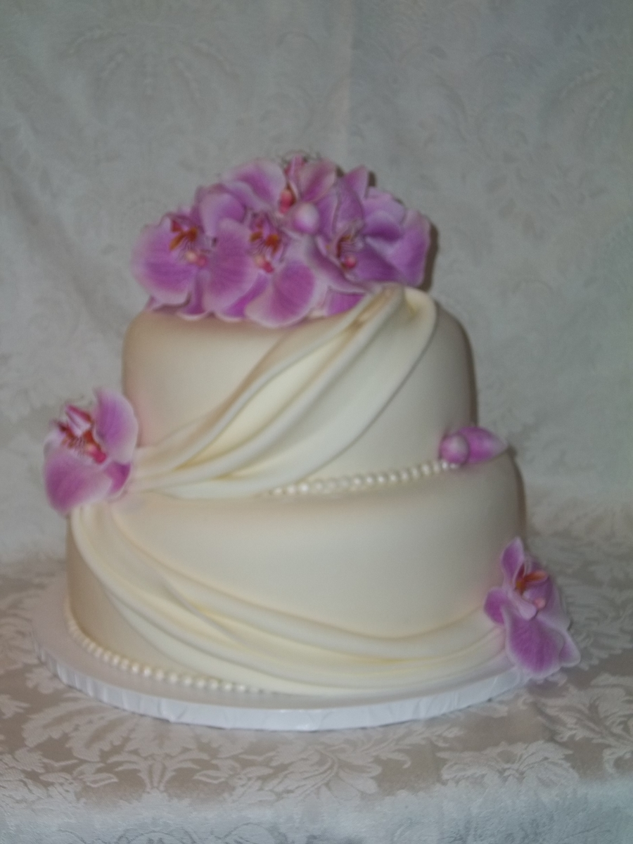 Orchids And Drapes on Cake Central