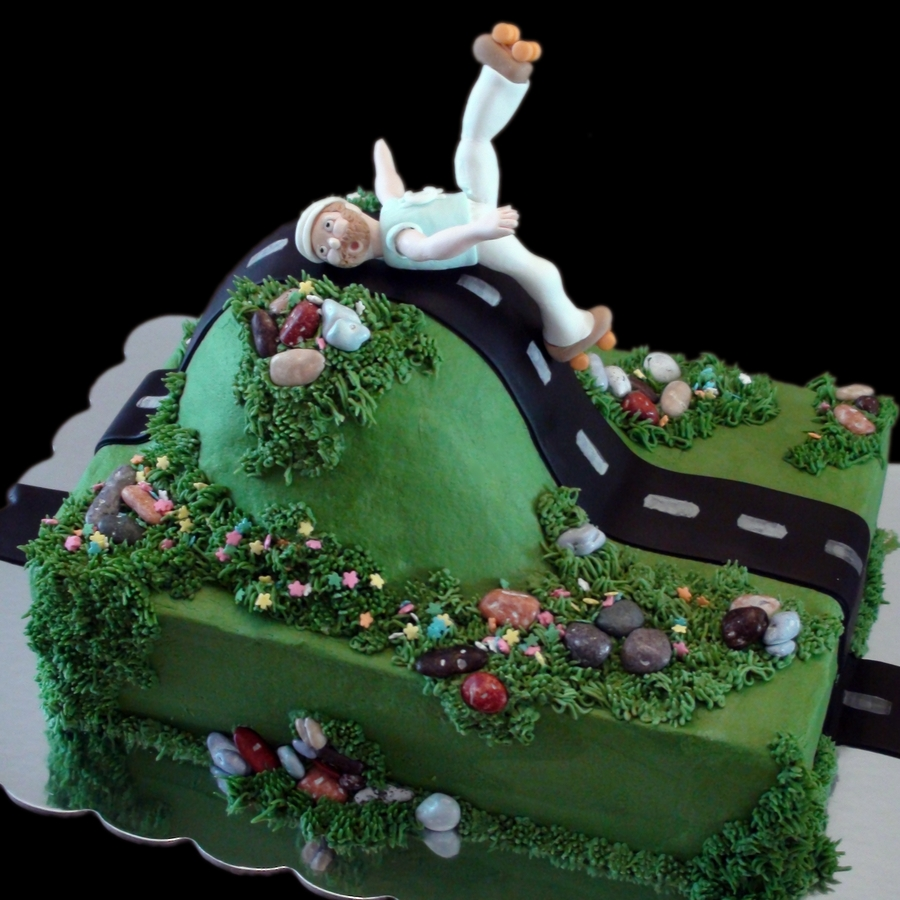 Over The Hill Skater on Cake Central