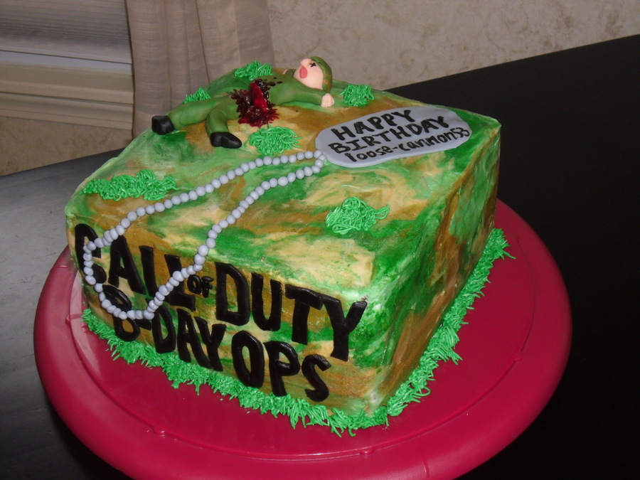 Awesome Call Of Duty Birthday Ops Cakecentral Com Funny Birthday Cards Online Inifodamsfinfo