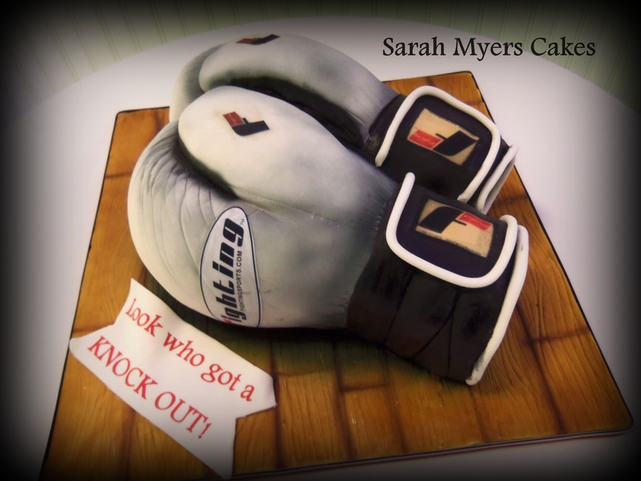 Sculpted Boxing Glove Grooms Cake on Cake Central