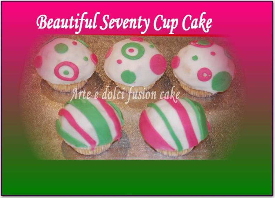 Beautyful 70 Cup Cake on Cake Central
