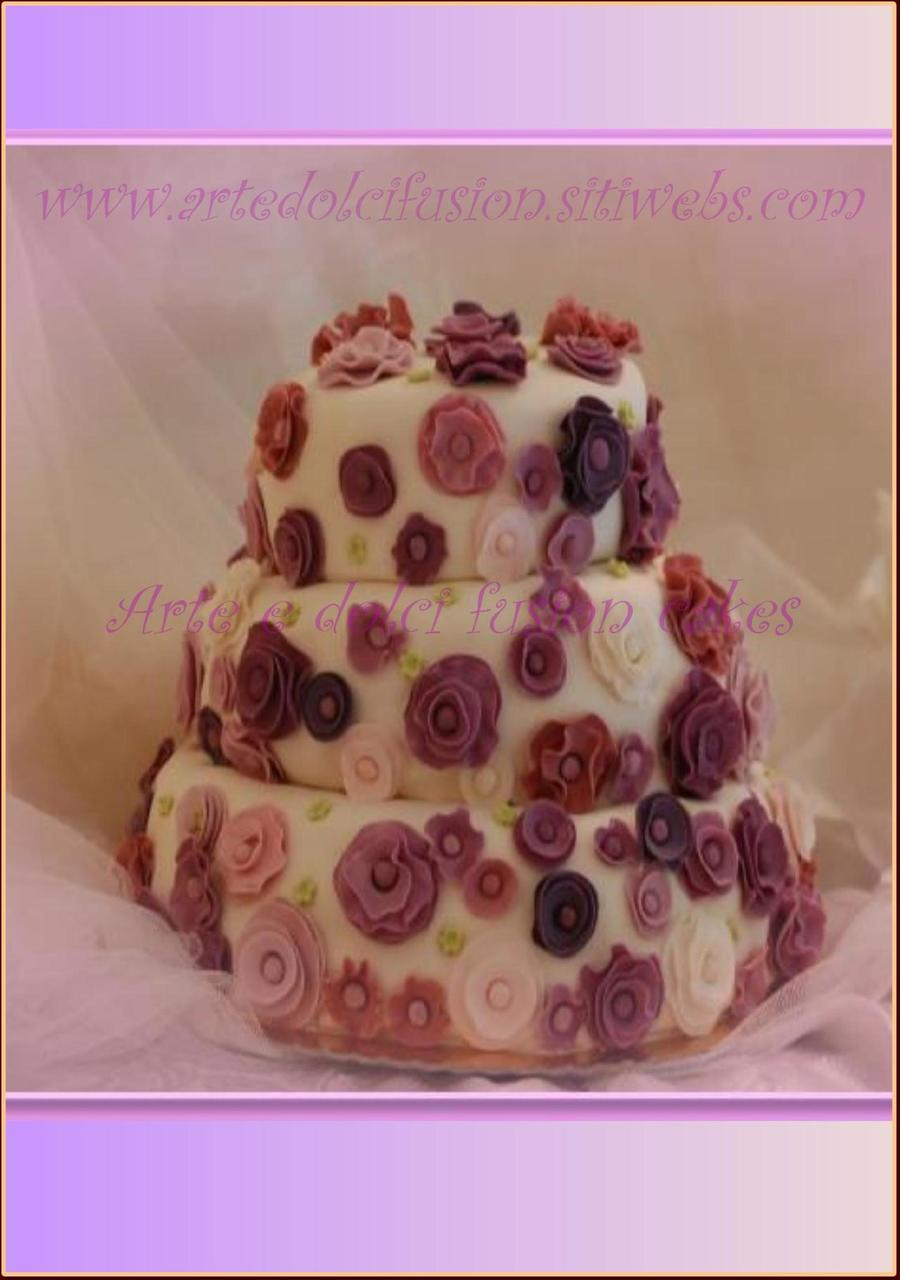 Romantic Purple Cake on Cake Central