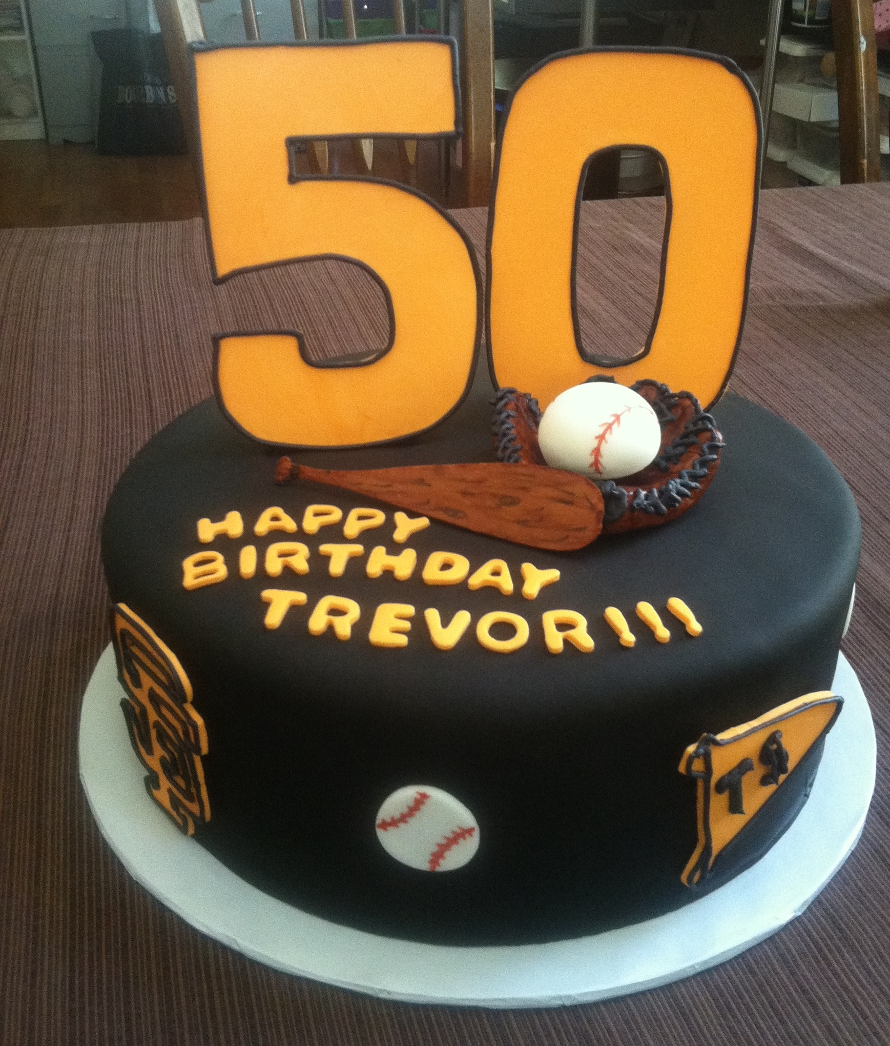 Astonishing 50Th Baseball Birthday Cake Cakecentral Com Personalised Birthday Cards Epsylily Jamesorg