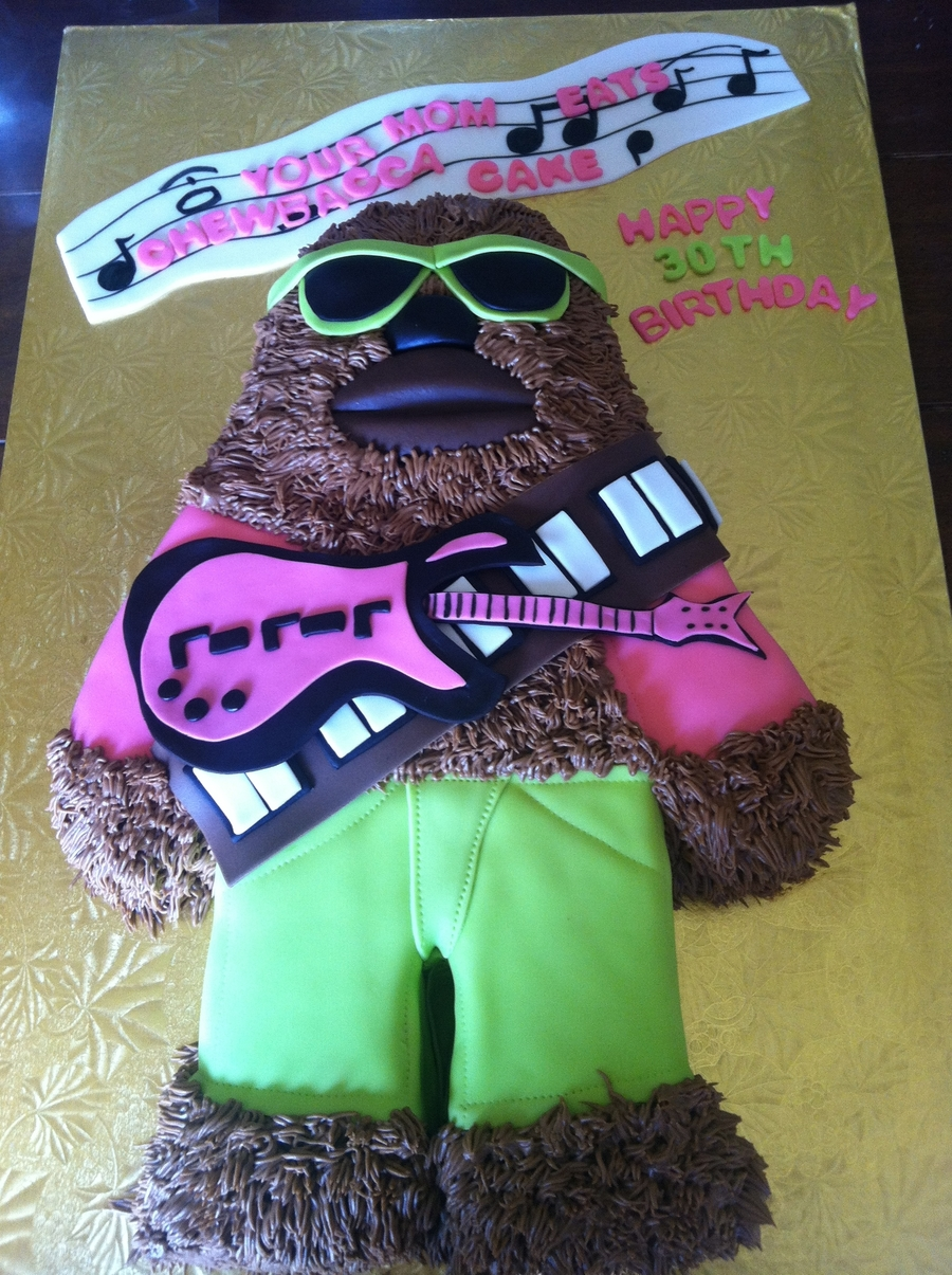 Groovy 80's Chewbacca Cake  on Cake Central