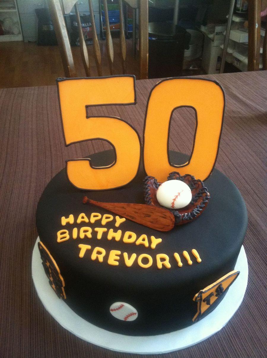 50th Baseball Birthday Cake Cakecentral