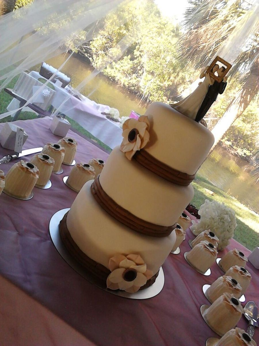 1St Wedding Cake on Cake Central