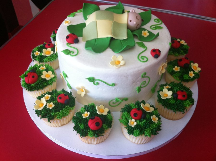 Daisies And Ladybugs on Cake Central