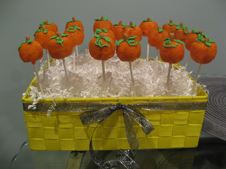 Pumpkin Cake Pops on Cake Central