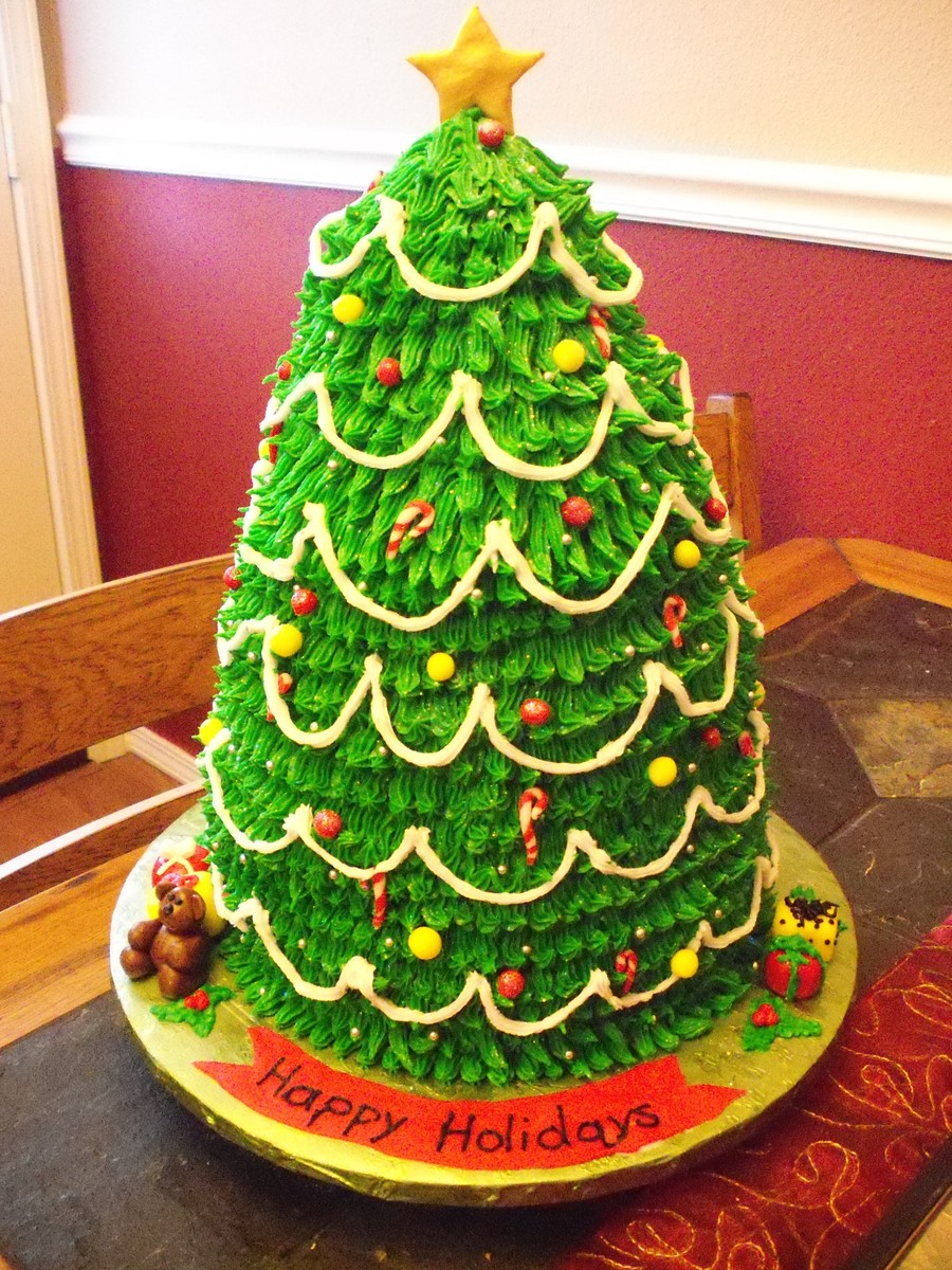 Images Of Christmas Tree Cake : 3D Christmas Tree Cake - CakeCentral.com