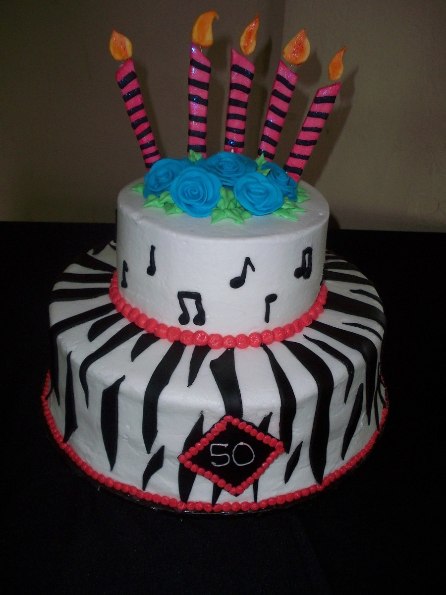 Zebra And Music on Cake Central