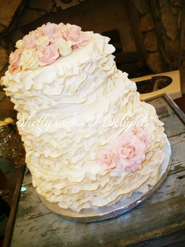 Fondant Ruffles And Gumpaste Roses on Cake Central