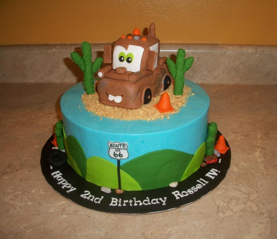 Wondrous Tow Mater Cake Cakecentral Com Funny Birthday Cards Online Benoljebrpdamsfinfo