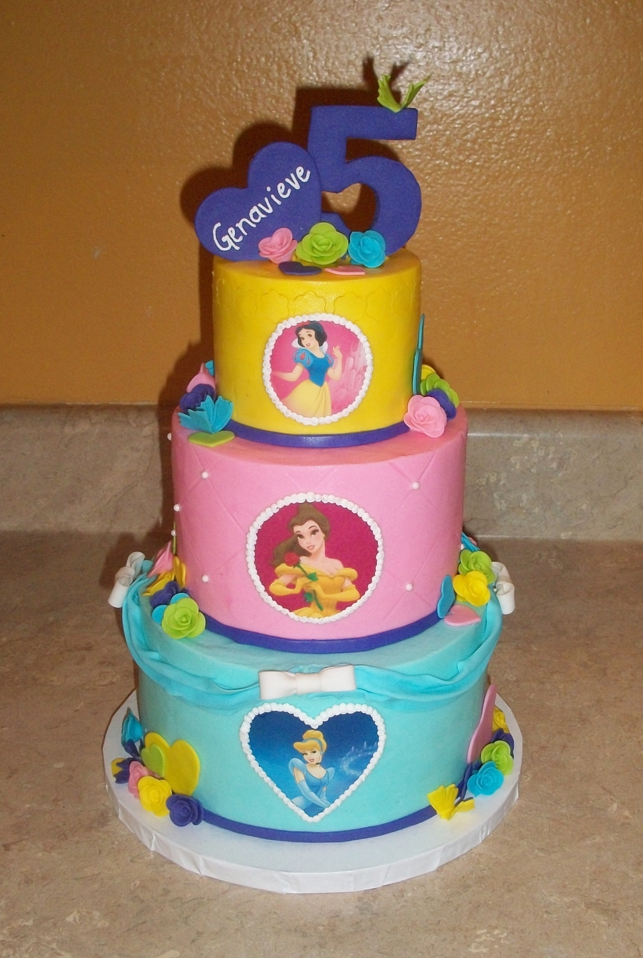 Mini Princess Tiered Cakejpg  on Cake Central