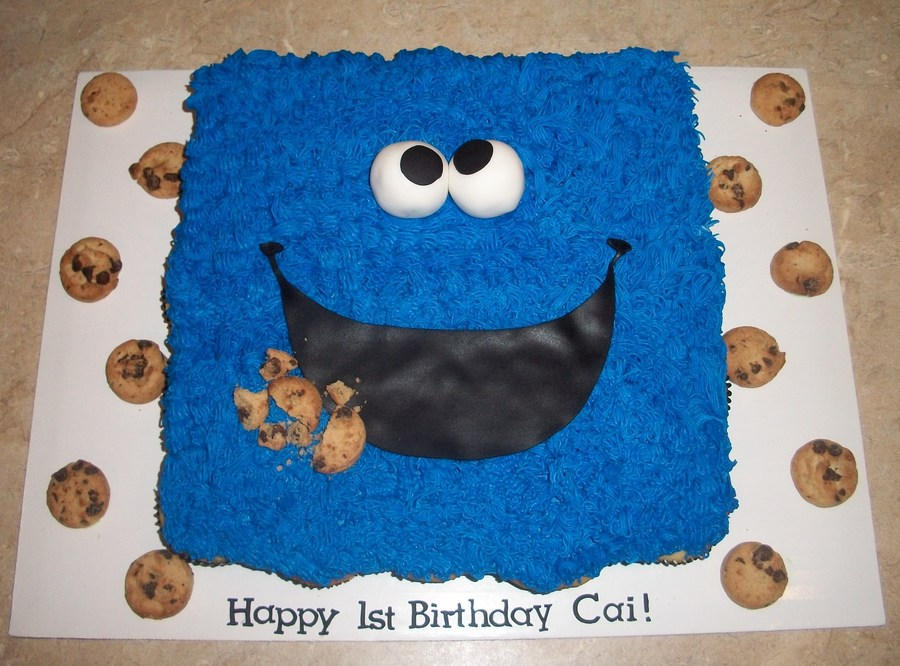 Cookie Monster Cupcake Cake on Cake Central