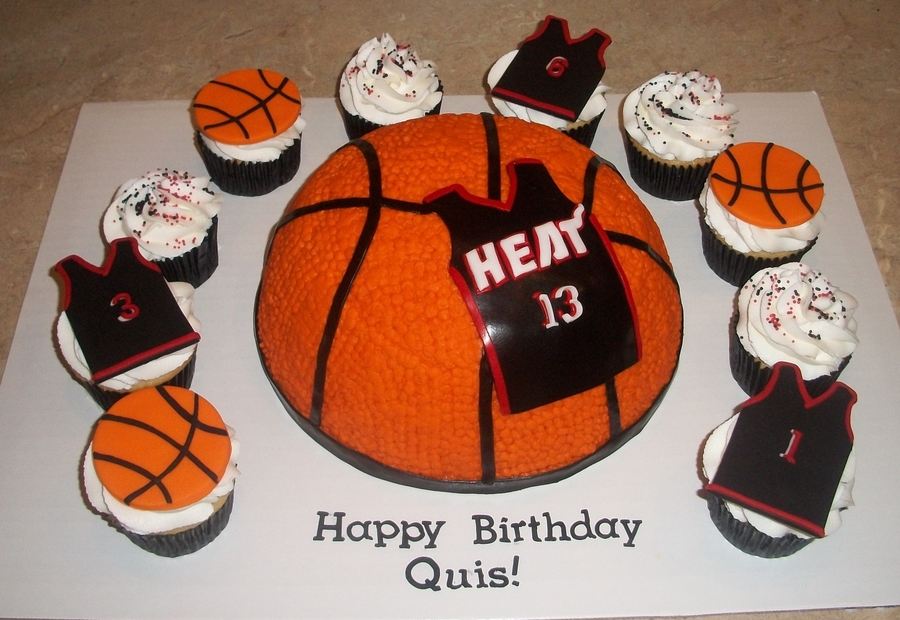 Miami Heat Bball Cakejpg on Cake Central