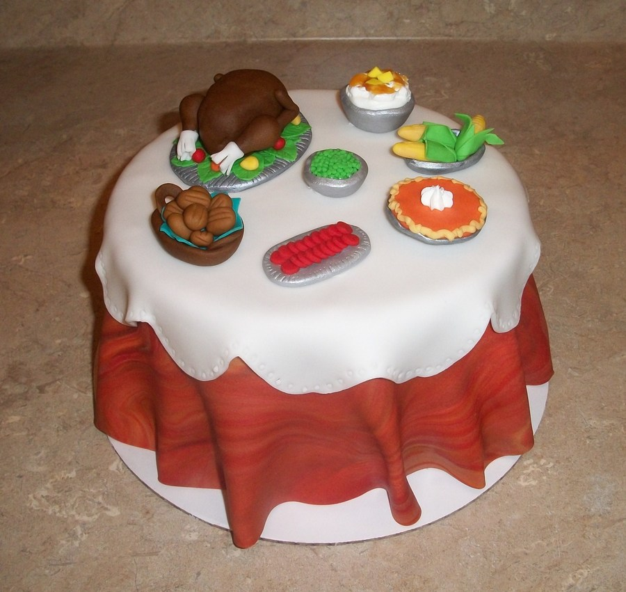 Thanksgiving Dinner Cakejpg on Cake Central