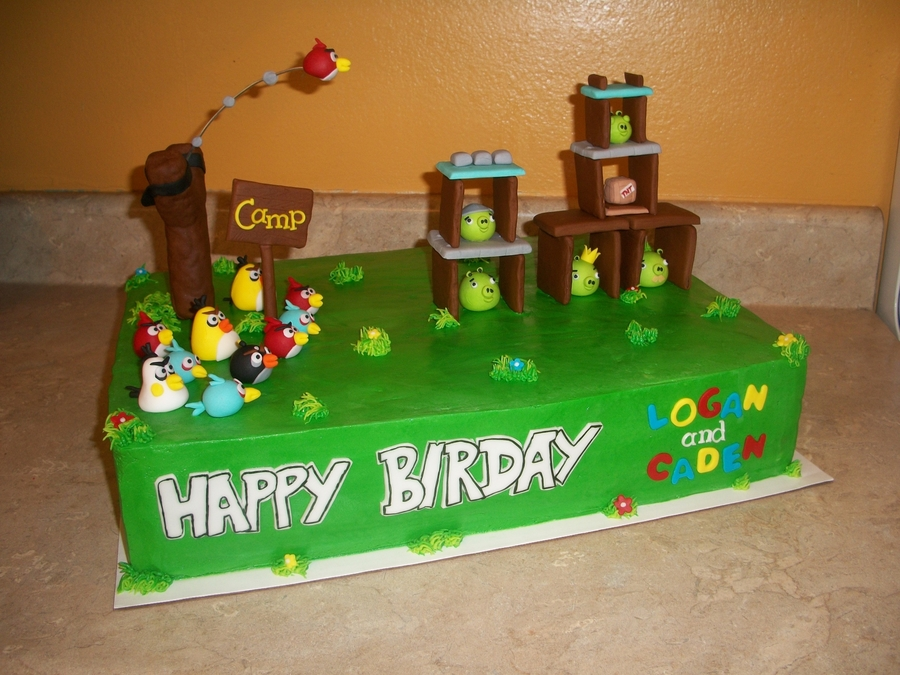 Angry Birds Sheet Cake on Cake Central
