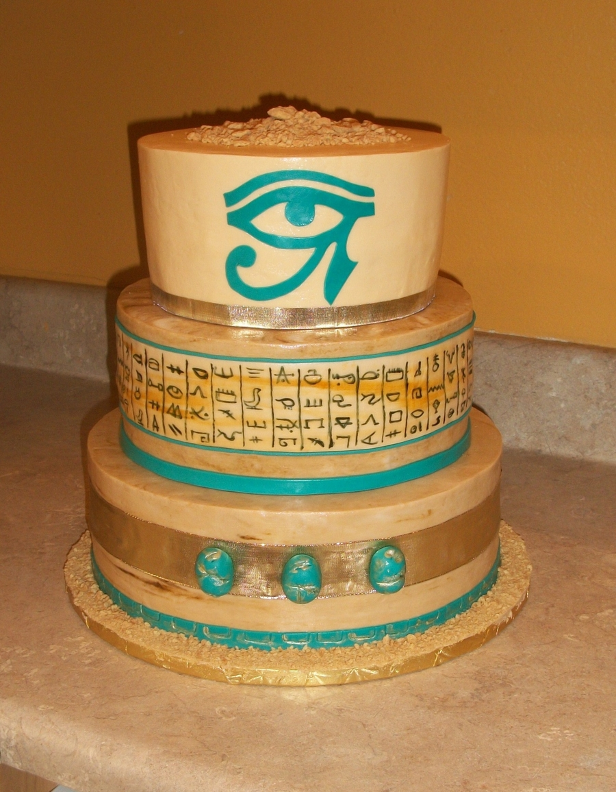 Egyptian Themed Cake on Cake Central