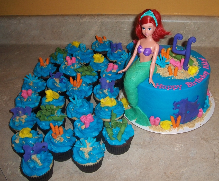 Ariel Barbie Doll Cakejpg  on Cake Central