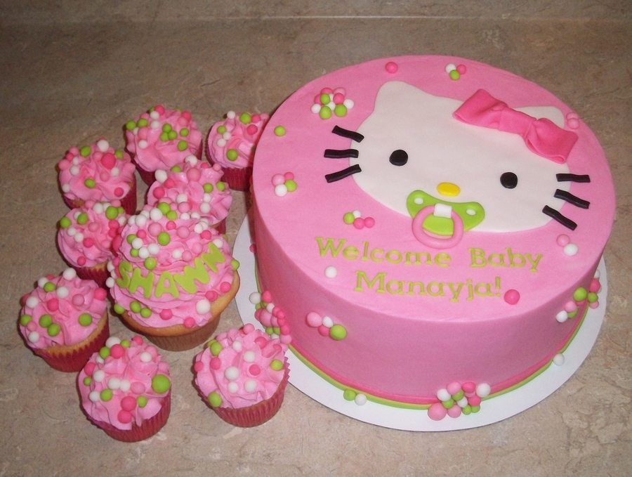 Hello Kitty Bubble Pacifier Cakejpg on Cake Central
