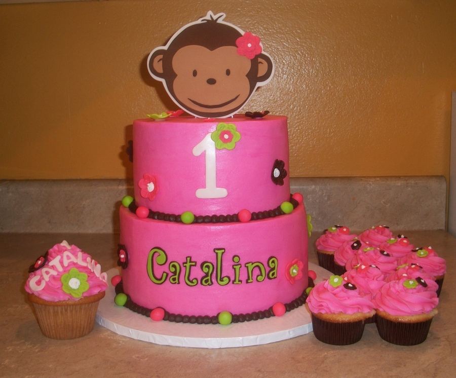 Pink Mod Monkey Cake on Cake Central