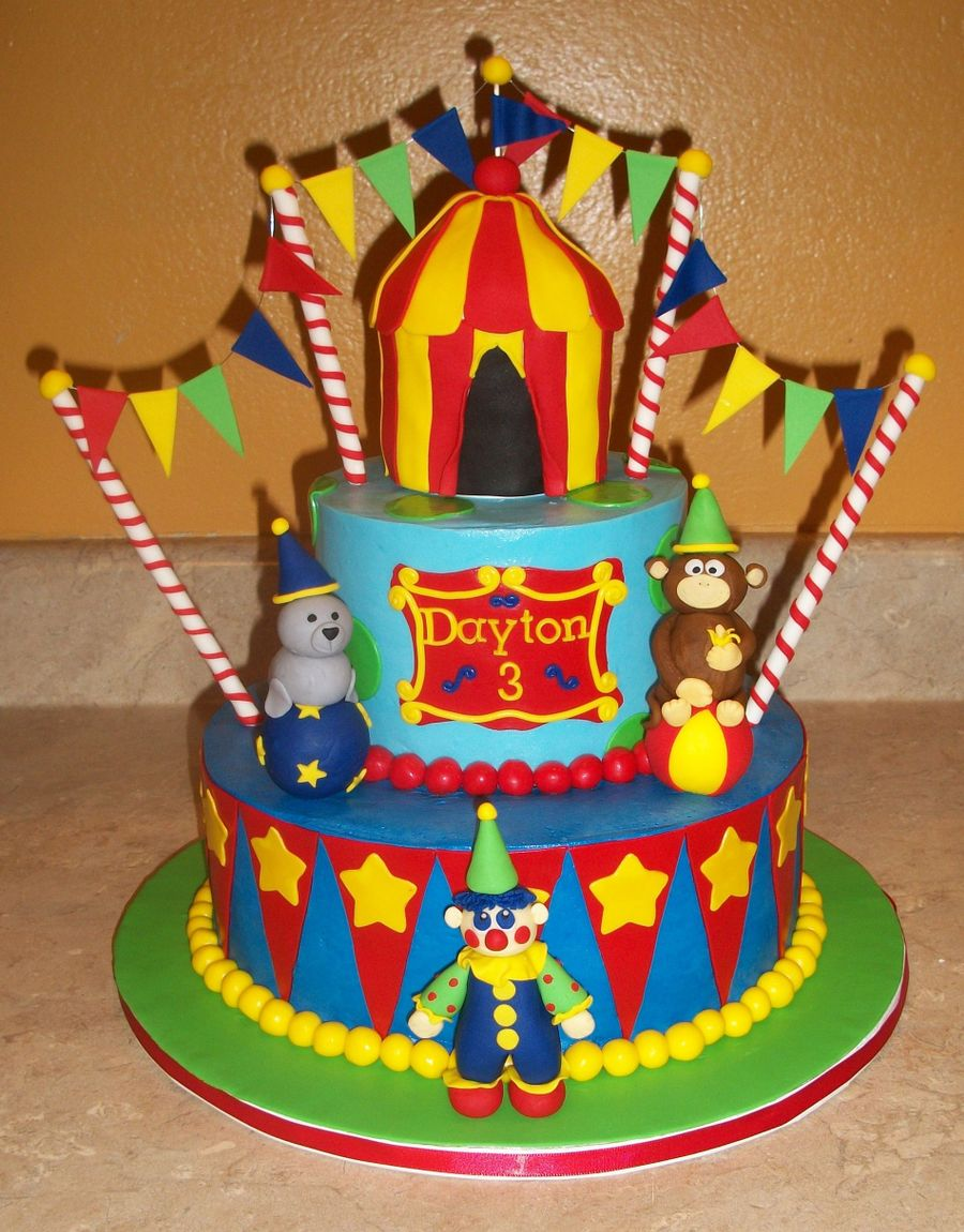 Circus Animal Birthday Cake on Cake Central