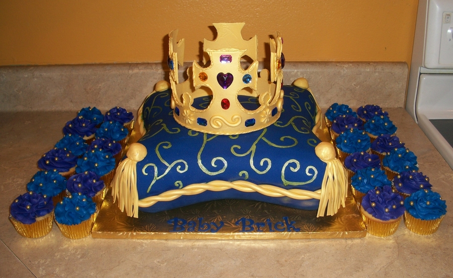 Pillow King Crown Cake on Cake Central