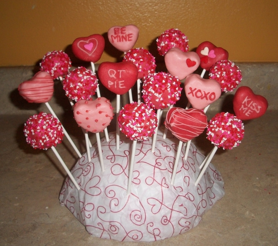 Valentines Day Cakepopsjpg on Cake Central